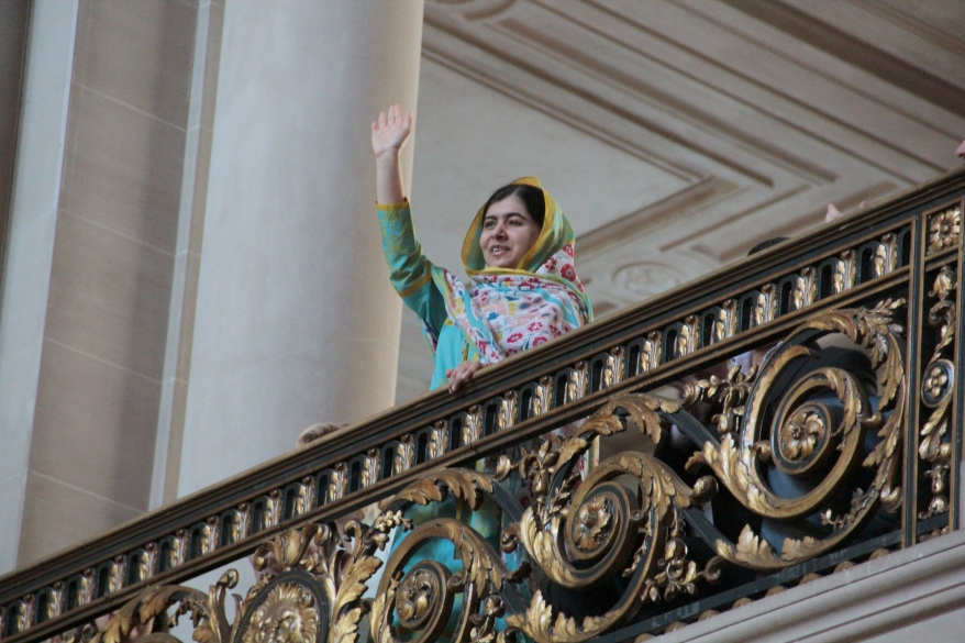 Malala in San Francisco, United Nations