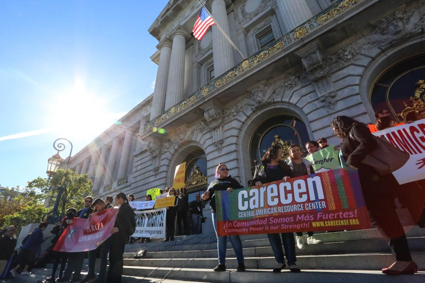 The specter of President-elect Donald Trump removing federal dollars from cities like San Francisco that have sanctuary policies for immigrants spurred a Nov. 29 press conference with civic leaders who stressed the importance of protecting all citizens within the city from such a threat.