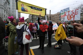 Erin Farrell at the Women's March in San Francisco on Saturday, January 21, 2017.