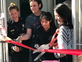 District 6 Supervisor Jane Kim cuts the ribbon for the Tenderloin Community Benefit District's new location at 512 Ellis St. on Wednesday, March 29, 2017.